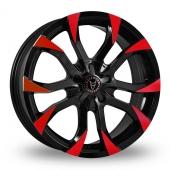 Wolfrace Assassin Black Red Alloy Wheels