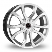 Wolfrace Assassin Silver Alloy Wheels