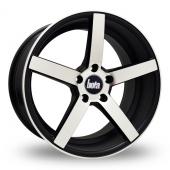 Bola B2 Black Polished Alloy Wheels