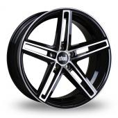 Bola B3 Black Polished Alloy Wheels