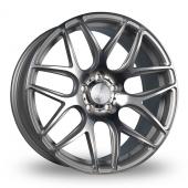 Bola B8R Silver Polished Face Alloy Wheels
