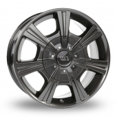 CW by Borbet CH Mistral Anthracite Glossy Alloy Wheels