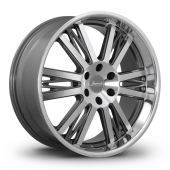 Konig Bravado Graphite Polished Alloy Wheels