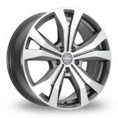 SuperMetal Bullet Grey Polished Alloy Wheels