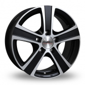 Calibre Highway Black Polished Alloy Wheels