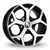 Carre Mustang Black Polished Alloy Wheels