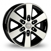 Carre Ranger Black Polished Alloy Wheels