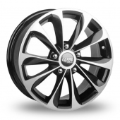 Carre Tempest Black Polished Alloy Wheels