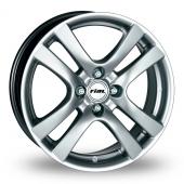 """17"""" Rial Como 4 Stud Silver Alloy Wheels"""