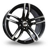 DRC DMF Black Polished Alloy Wheels