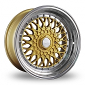 Dare DR-RS Gold Polished Lip Alloy Wheels