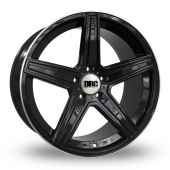 DRC DMA Black Polished Rim Alloy Wheels