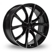 Lenso ES E Black Polished Alloy Wheels
