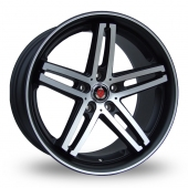 Axe EX11 Black Polished Lip Alloy Wheels