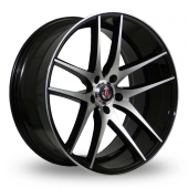 Axe EX19 Black Polished Alloy Wheels