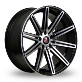 Axe EX15 Black Polished Alloy Wheels