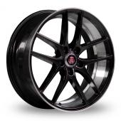 Axe EX19 Black Polished Alloy Wheels