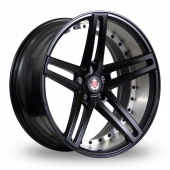 Axe EX20 Matt Black Polished Barrel Alloy Wheels