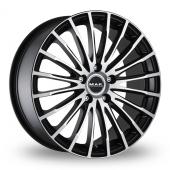MAK Fatale Black Polished Alloy Wheels