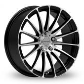Inovit Force 5 Black Polished Alloy Wheels