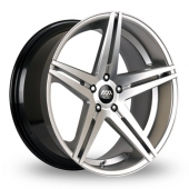 AVA Fresno 2 Hyper Silver Alloy Wheels
