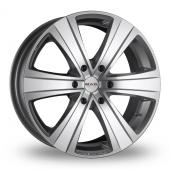 MAK Fuoco 6 Hyper Silver Alloy Wheels