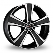 "20"" Mak Fuoco 5 Ice Black Alloy Wheels"