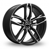 GMP Italia Atom Black Polished Alloy Wheels