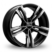 GMP Italia Reven Black Polished Alloy Wheels