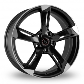 Wolfrace Genesis Black Polished Alloy Wheels
