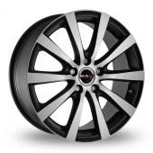 MAK 18 Black Polished Alloy Wheels