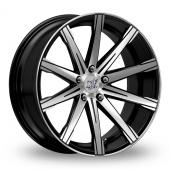 Inovit Revolve Black Polished Alloy Wheels