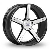 Inovit Rotor Black Polished Alloy Wheels