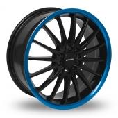 Team Dynamics Jet Black Blue Alloy Wheels