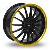 Team Dynamics Jet Black Gold Alloy Wheels