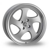 Junk D3KAY Silver Polished Lip Alloy Wheels