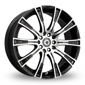 Konig Crown Black Polished Alloy Wheels