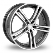 Team Dynamics Le Mans Anthracite Polished Alloy Wheels