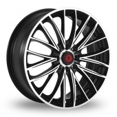 Lenso Dojo Black Polished Alloy Wheels