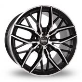 Momo Spider Black Polished Alloy Wheels