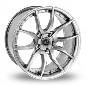 Mania Racing Mayfair Silver Alloy Wheels