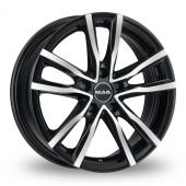 MAK Milano Black Polished Alloy Wheels
