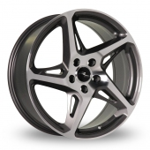 Dare River R-4 Gun Metal Polished Alloy Wheels
