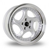 Dare River R-6 Silver Polished Lip Alloy Wheels