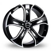 Image for Riva RVR Black Alloy Wheels