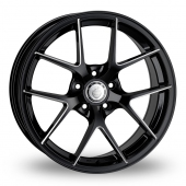 Cades Shift Accent Black Polished Alloy Wheels