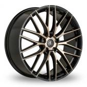 AC Wheels Syclone Wider Rear Bronze Polished Alloy Wheels