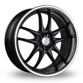 Judd T404 Black Stainless Lip Alloy Wheels