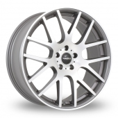 SuperMetal Trident Grey Polished Alloy Wheels