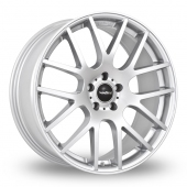 SuperMetal Trident Silver Alloy Wheels